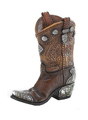 Boots and Spurs Western Cowboy Boot Vase for Western Home Decor 1 NEW, Free Ship