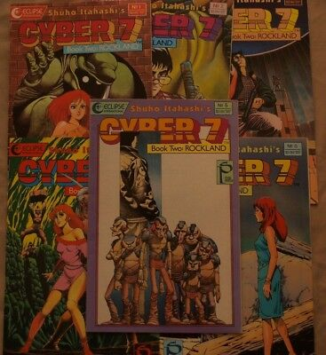 Cyber 7 Two: Rockland Issues #1-6 (combined shipping available)