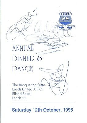 Leeds United Supporters Club Autographed Menu 1996