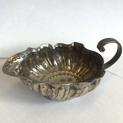 Fine Quality Antique George II 2nd Solid Silver Sauce Boat By John Pollock 1743