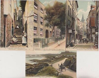 Four Guernsey Ll Postcards - Numbers - 58 - 63 - 76 - 119 - Channel Islands