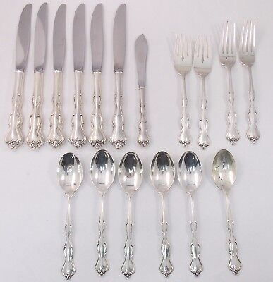 International Mademoiselle 17pc Sterling Silver Flatware Set (#5953)