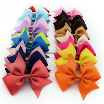 10PCS Handmade Bow Hair Clip Alligator Clips Girls Ribbon Kids Sides Accessories