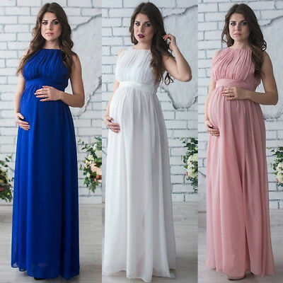 Maternity Maxi Dresses Pregnant Women Photography Props Gown Fancy Dress Clothes