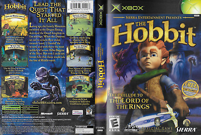 The Hobbit Prelude to Lord of the Rings Xbox, 2003 Official Sierra Entertainment