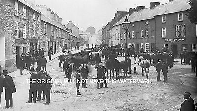 Armagh Fair Day Ireland 1905 Antique Print Mounted Ancestry & History