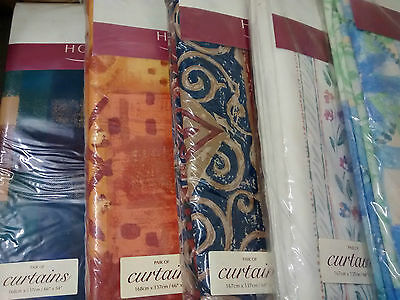5 pairs of unlined Horrockses Curtains, 66 x 54 in