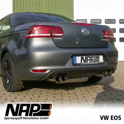Nap Exhaust Flaps VW EOS with EC Abe Stainless Steel, Duplex, Remote Control