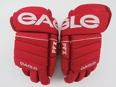 Red & White Eagle PFX Mens Ice Hockey Player Gloves 13""