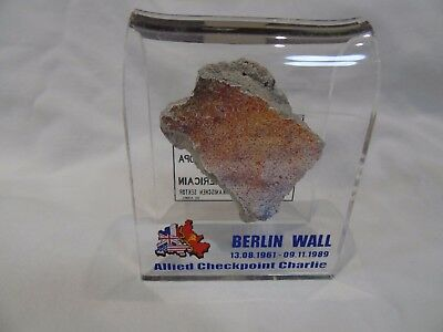 AUTHENTIC PIECE OF THE BERLIN WALL IN AN ACRYLIC DISPLAY, Germany