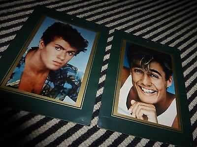 Wham George Michael Andrew Ridgley Original 1983 Fan Club Photographs In Mount