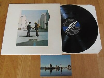 PINK FLOYD WISH YOU WERE HERE A1/B5 VINYL LP + Postcard Audio EX+/NEAR MINT