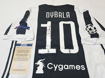 Soccer Juventus FC 17-18 Home Jersey Shirt Signed By #10 Dybala + COA, Argentina