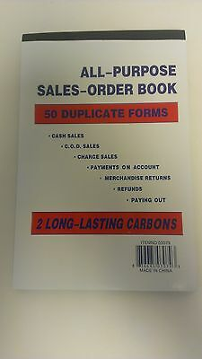 """Lot of 6 ~Sales Order Books/Receipts~50 Duplicate Forms~Carbonless, #'d~ 5.5""""x8"""""""