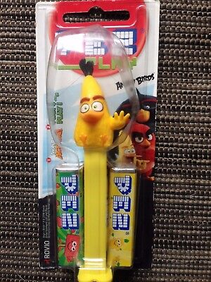 ☆ PEZ ANGRY BIRD _ YELLOW CHUCK _ Neuf sous blister ☆