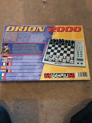 ORION 2000 Electronic Chess & Draughts Set, Boxed With Instructions.