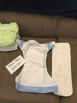 ☆ BUMGENIUS ☆ 3 Pocket Cloth Diapers & 6 Inserts ☆ Velcro ☆ adjustable Size ☆