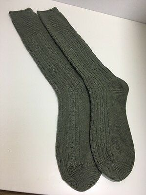 CA28 True Vintage Mens Wool Blend Socks 1970s? Greenwood's Socks Size 9-11 Long