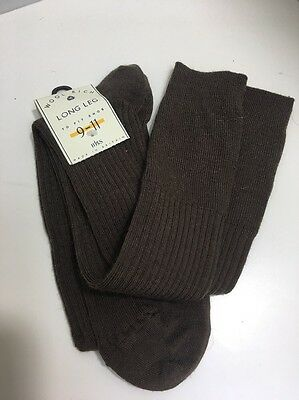 CA20 True Vintage Mens Nylon Wool Socks 1970s? BHS Socks Size 9-11 Long Made UK