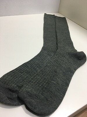 CA35 True Vintage Mens Nylon Wool Socks 1970s? BHS Socks Size 9-11 Long Made UK