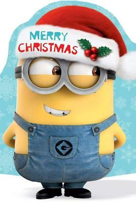 despicable me merry christmas card minions