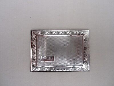 Antique Art Deco Silverplate/chrome Stamp Holder Case