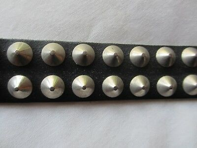 Studded Black Leather Belt Early 80s