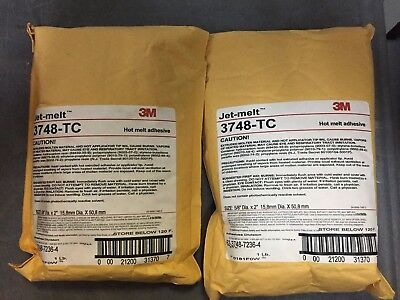 3M JET MELT 3748-TC 5/8 in x 2 in Hot Melt Adhesive (20 (1LB BAGS)
