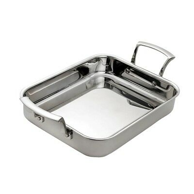 Browne Foodservice Thermalloy® 4.6qt Tri-Ply Stainless Rectangular Roasting Pan