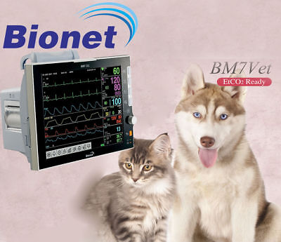 "NEW ! Bionet BM7 Veterinary Patient Monitor 12.1"" Touch Screen, 4 Yr Warranty"