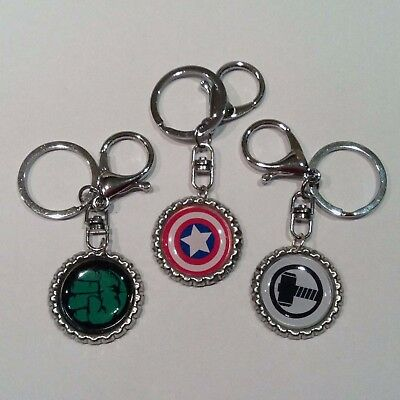Marvel Comic Hero Key Ring, Keychain with Gift Tin, Stocking Filler, Choice of 6