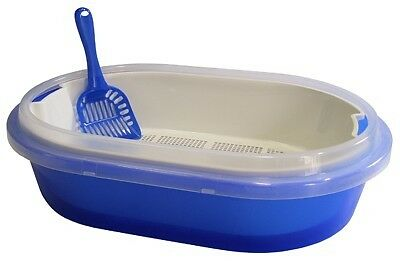 Oval Shaped Cat Litter Tray with Sieve and Scoop Australia Made