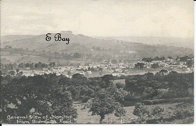 A vintage postcard showing a view of Honiton