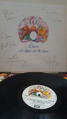 QUEEN SIGNED  1975 A Night At The Opera LP ALBUM