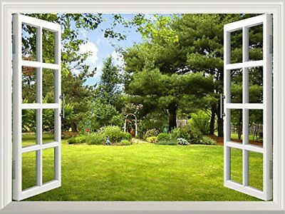 High Quality Removable Wall Sticker / Wall Mural Beautiful Garden View out New