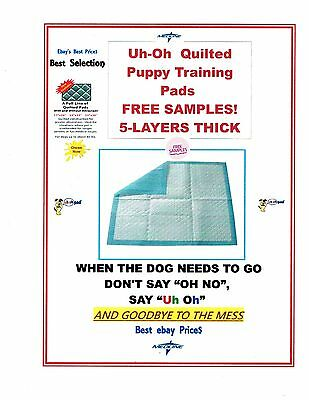 "600 Quilted Puppy Training Heavy Pads For Dogs Up To 30Lbs 17X24"" Free Sampkes"