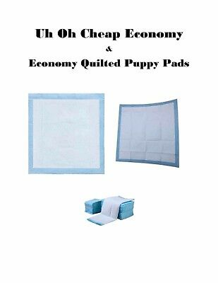 Cheap Low Cost Puppy Training Pee Piddle pads Econo and Quilted Grades