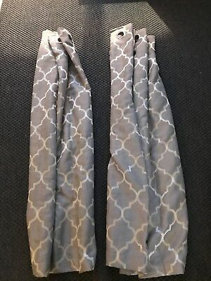 Dunelm Grey patterned curtains with eyelets