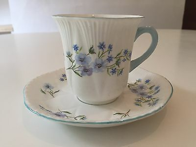 Shelley Dainty Blue Rock Cup And Saucer