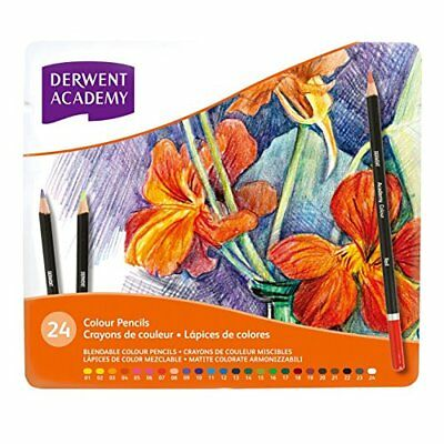 Derwent Academy Colouring Pencils Tin - Set of 24