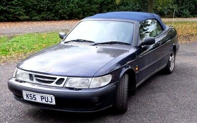 LOW PRICE - Saab 9-3 S 2.0t SE (154bhp) Convertible Blue LOW MILES, CD, REDUCED!