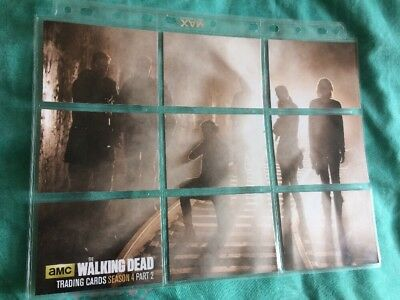 9 Card Walking Dead Season 4 Part 2 Complete Chase Set - Nine puzzle Cryptozoic