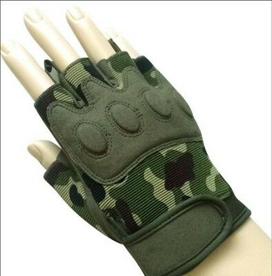(Medium) - Men Outdoor Half-finger Gloves Movement Fitness Mountaineering