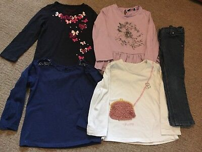 Girls long sleeved top bundle and Next Jeans age 3-4 years