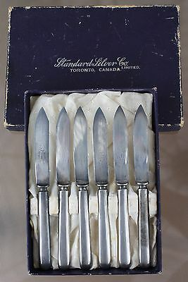 Antique Set Of 6 Silver Plate Knives - Standard Silver G. Rodgers Canada