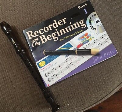 YAMAHA RECORDER WITH INSTRUCTION  BOOK 1 Included