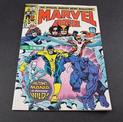 Marvel Age #33 [1985] The Official Marvel New Magazine  X-factor - Marvel Comics