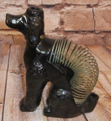 Vtg.  Poodle Dog Shafford Figure W/Metal Coil Spring Mail Letter Pencil Holder