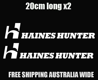 haines hunter decal stickers boat car trailer fishing