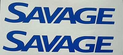 SAVAGE BOAT STICKERS x 2 car ute boat trailer fishing